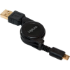 LogiLink USB Micro-B apa - USB A apa felcsévélhető kábel