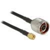 DELOCK N -> SMA M/M antenna kábel 10m CFD200 fekete