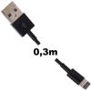 Whitenergy Lightning -> USB A M/M adatkábel 0.3m fekete