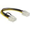 DELOCK Power 6pin -> Power 8pin M/F tápkábel 0.2m