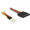 DELOCK Power Cable SATA 15 pin male > 4 pin floppy male 24 cm