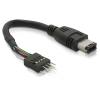 DELOCK Firewire 6/6 (IEEE-1394) -> Firewire pinheader M/M adatkábel 0.16m fekete