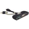 DELOCK USB micro B -> USB micro B USB A HDMI 1.3 microSD M/F adapter OTG fekete