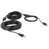 DELOCK USB A -> USB B M/M adatkábel 20m fekete