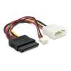 DELOCK Molex Power 4pin -> SATA Power Power 4pin M/F adapter