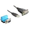 DELOCK USB A -> Serial RS-422/485 M/M adatkábel 0.8m fekete