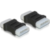 DELOCK Molex Power 4pin M/M adapter fekete