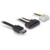 DELOCK eSATAp Molex Power 4pin -> SATA All-in-One F/F adatkábel 1m fekete