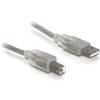 DELOCK USB A -> USB B M/M adatkábel 0.5m