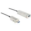 DELOCK USB 3.0 A M/F adatkábel 20m optikai kábeles hosszabbító fekete
