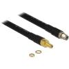 DELOCK RP-SMA M/F antenna kábel 0.4m CFD400/LLC400 fekete