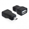 DELOCK USB A   USB mini B 5pin F/M adapter