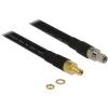 DELOCK SMA M/F antenna kábel 7.5m CFD400/LLC400 fekete
