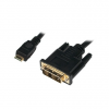 LogiLink Mini HDMI to DVI-D Cable, M/M, 1.5m