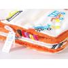 Pihe puha minky takaró - Narancs-fehér járművek