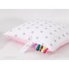 Minky párna - Rózsaszín, fehér, szürke csillagos