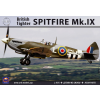 "Ark Models Supermarine ""Spitfire"" Mk.IX British fighter (the kit includes 2 sets of plastic parts & resin parts) repülőgép makett Ark Models AK48008"
