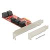 DELOCK I/O DELOCK PCI Express kártya > 10db belsõ SATA (6Gb/s) csatlakozóval, alacsony profilú...