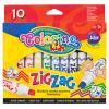 Colorino ZIG-ZAG vágott hegyű filctollkészlet, 10db-os 3+