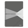 Leitz Spirálfüzet, A4, vonalas, 90 lap, laminált karton borító, LEITZ