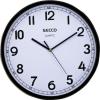 Secco Falióra, 30 cm,  fekete keretes, SECCO Sweep second (DFA028)