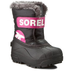 SOREL Hótaposó SOREL - Childrens Snow Commander NC 1877-012 Black/Haute Pink