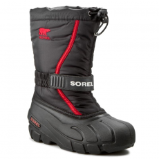 SOREL Hótaposó SOREL - Youth Flurry NY 1885-015 Black/Bright Red