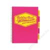 Pukka pad Spirálfüzet, A4, kockás, 100 lap, PUKKA PAD Project book  Neon, rózsaszín (PUPB7080K)