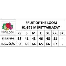 Fruit of the Loom Valueweight Vest Női trikó, fehér