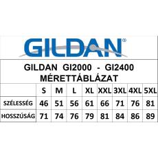 GILDAN ultra előmosott póló, ash