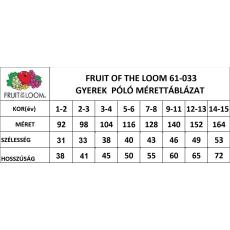 Fruit of the Loom gyerek rövid ujjú póló, égkék