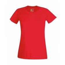 Fruit of the Loom Rövid ujjú Lady-Fit Performance póló, piros női póló
