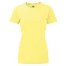 RUSSEL Karcsúsított fazonú, Russell Női póló, Yellow Marl