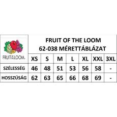 Fruit of the Loom női kapucnis pulóver, királykék