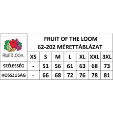 Fruit of the Loom Kereknyaku Set-In Sweat, fekete