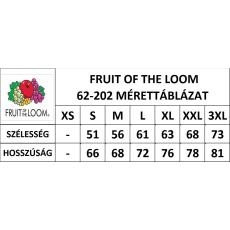 Fruit of the Loom Kereknyaku Set-In Sweat, fekete