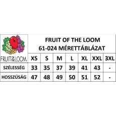 Fruit of the Loom Vékony vállpántos női póló, napsárga