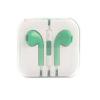 Mikrofonos fülhallgató 3.5mm-es jack dugóval, Zöld