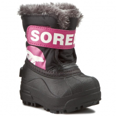 SOREL Hótaposó SOREL - Toddler Snow Commander NV 1877-012 Black/Haute Pink