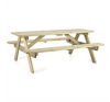 Blumfeldt Picknicker 180, piknik asztal, kerti bútor, 32 mm, boróka, 45 kg kerti bútor