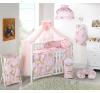 Babaágynemű garnitúra 4 részes huzat - Zsiráfka rózsaszín babaágynemű, babapléd