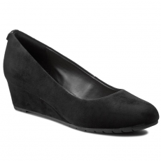 Clarks Félcipő CLARKS - Vendra Bloom 261201544 Black Sde