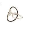 Fekete és fehér köves áttört arany gyűrű