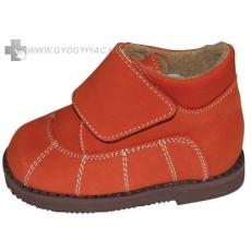 szupinációs cipő tépőzáras flanell rozsdabarna