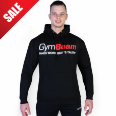 GymBeam Clothing Pulcsi Hard Work Black - GymBeam