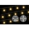 diLED világító lánc - 40 LED meleg fehér + bekötés