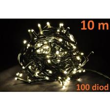 Karácsonyi LED világítás 10m - meleg fehér, 100 dióda karácsonyfa izzósor