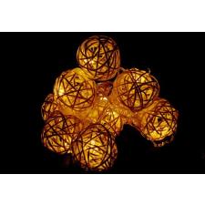 Karácsonyi dísz - 10 db fénygömb - meleg fehér, 10 LED dióda karácsonyfa izzósor
