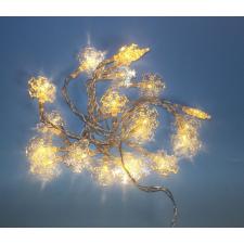 Karácsonyi LED világítás - hópehely - meleg fehér 20 LED karácsonyfa izzósor