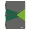 """Leitz Spirálfüzet, A5, vonalas, 90 lap, PP borító, LEITZ """"Office"""", szürke-zöld"""